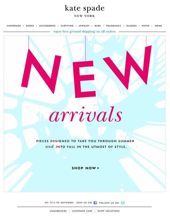 kate spade email - boost online sales