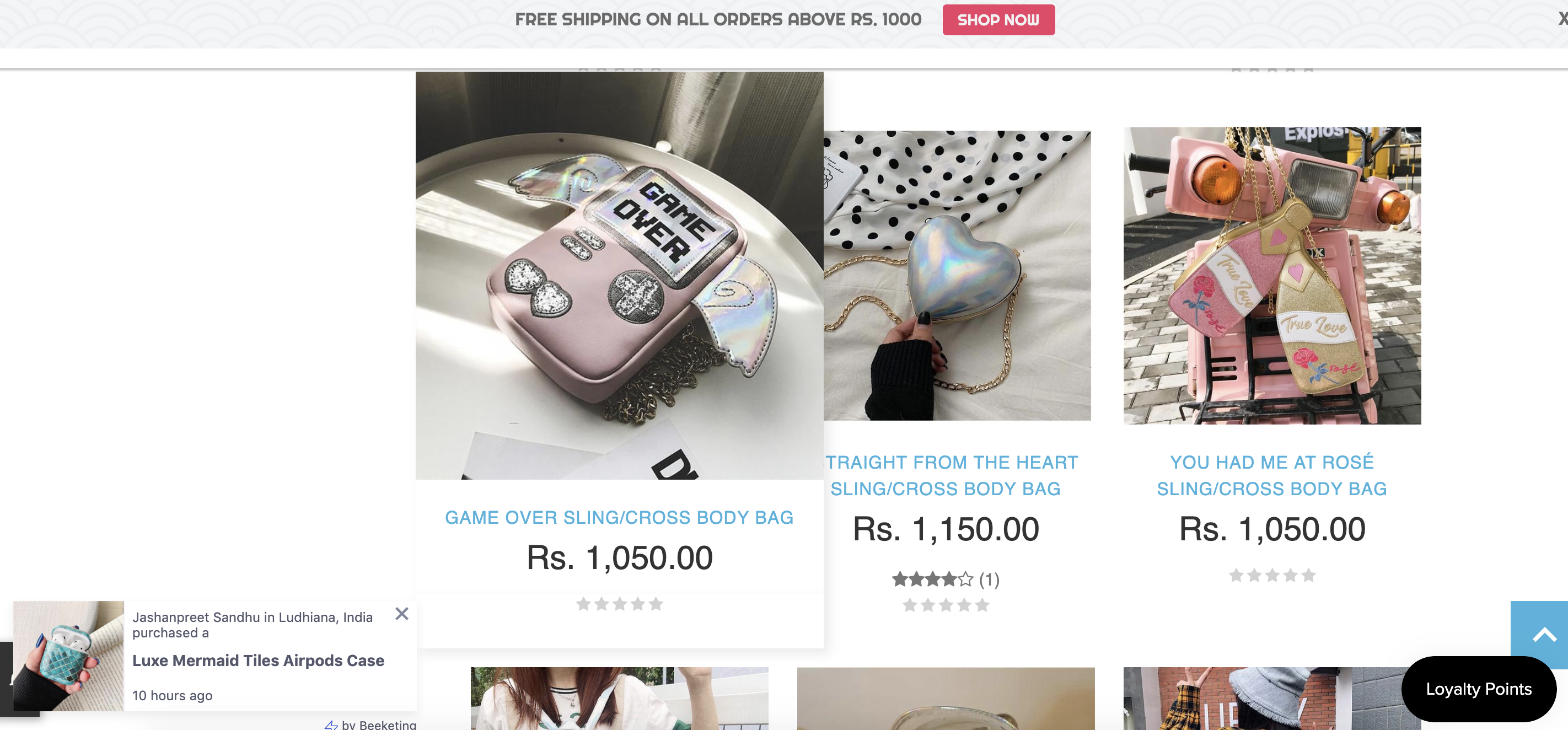 on-site notifications ecommerce conversion optimization
