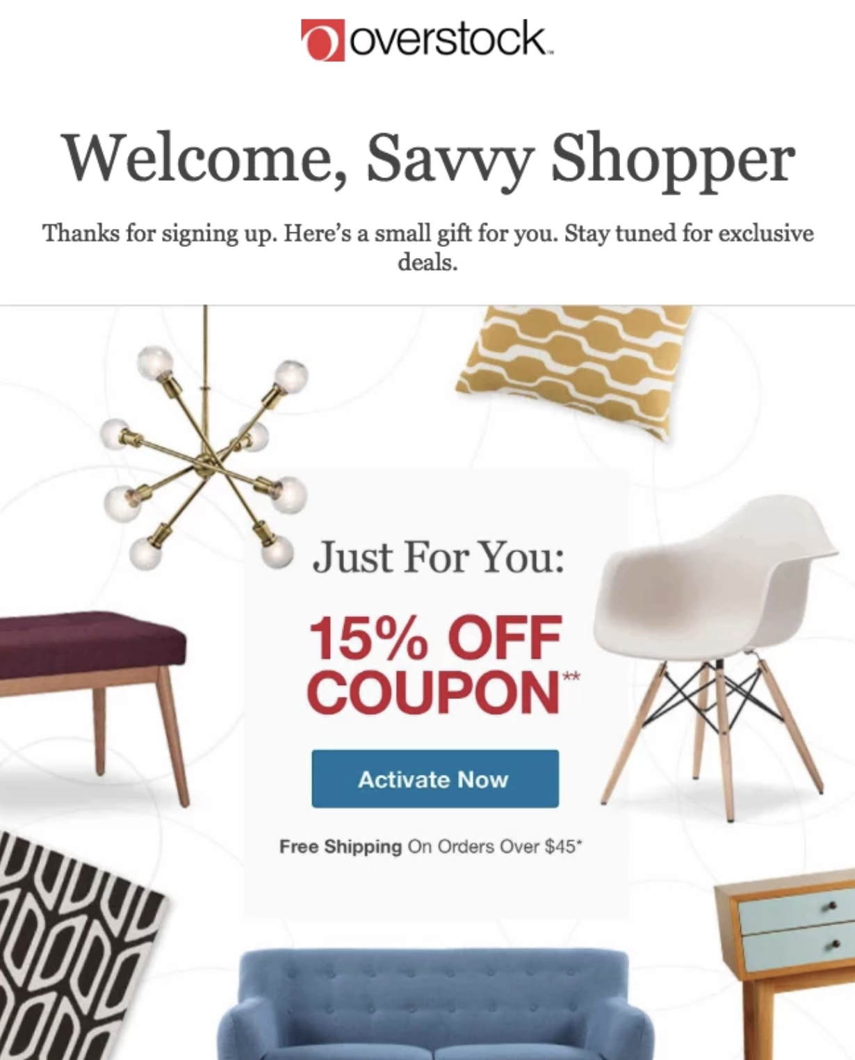 welcome email - boost online sales