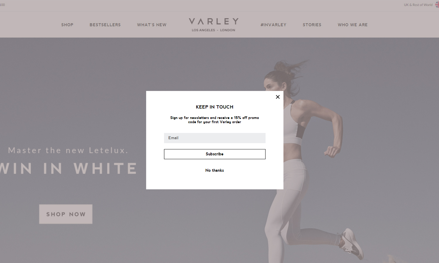 Varley-Clothing pop up