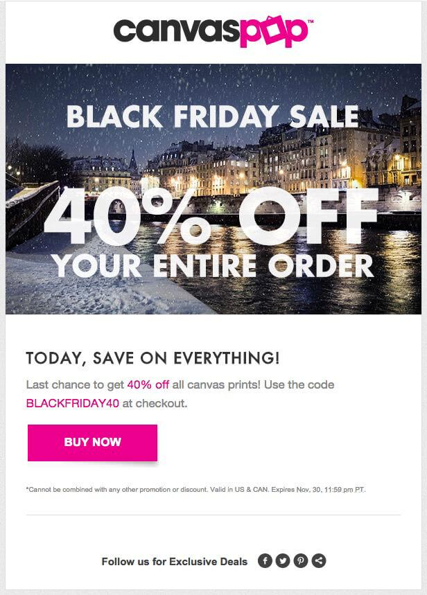 canvaspop email - boost online sales