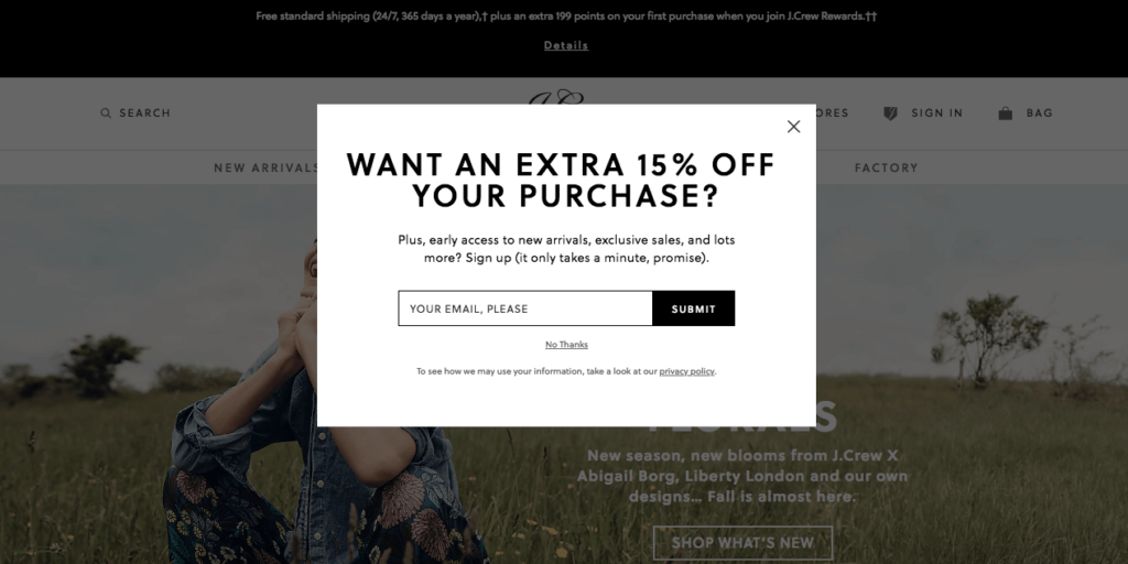 increase shopify sales exit intent