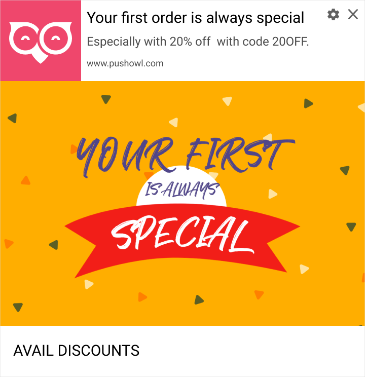 first offer web push notifications