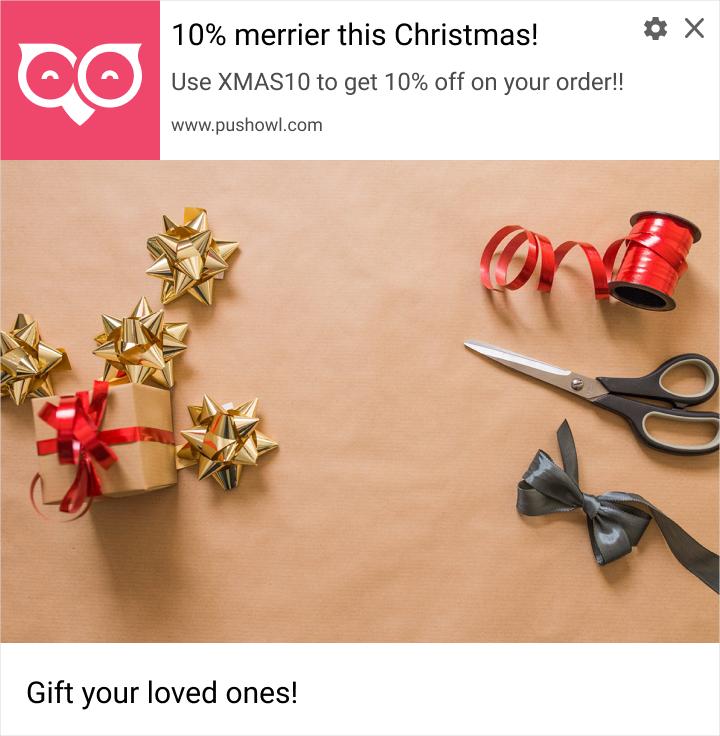holiday web push notifications