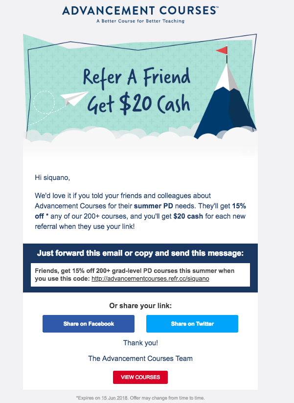 beautiful-email-referral-design-examples-advancement-courses-personal-development-discount